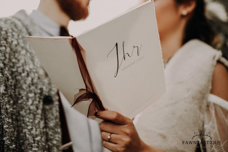 Individual Wedding Stationary - this one is made of handmade paper and callygraphy writing. We're so in love with it.