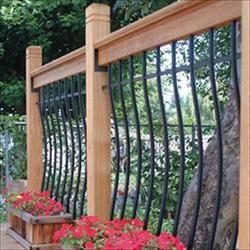Wood Railing Kits - Tuscany Series - Pine - Curved Black Baluster