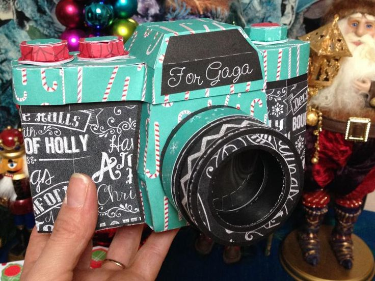 Photo album gift with a 3D camera box to give it in!!! Links, how-to, sources, and more are on the blog post.