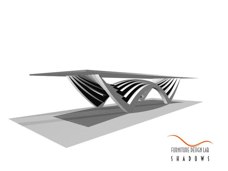 """Shadows"" table design concept by murray kuun for ""furniture design lab""."
