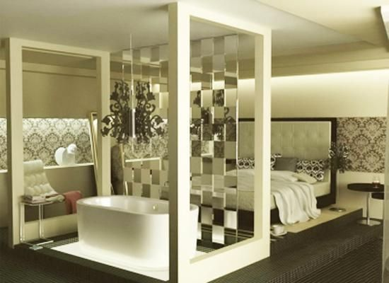 Glass Partition Wall Design Ideas And Room Dividers Separating Modern  Bedrooms From Bathrooms Part 67
