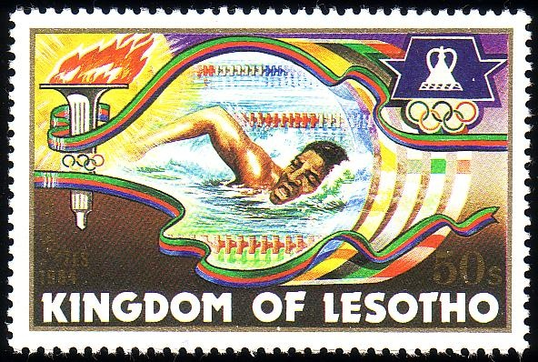 Stamp from Lesotho | Los Angeles 1984, Olympic Games