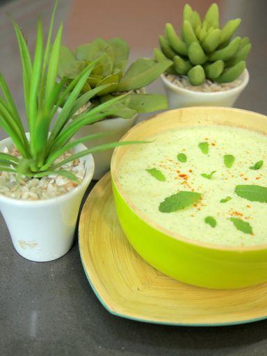 Soupe glacée au concombre : Recette de Soupe glacée au concombre - Marmiton