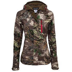 This Realtree Max-1 camo Women's Scent Control Rain Jacket is engineered to provide ultimate protection from the elements, quietness, durability and an exceptional fit.  $39.97