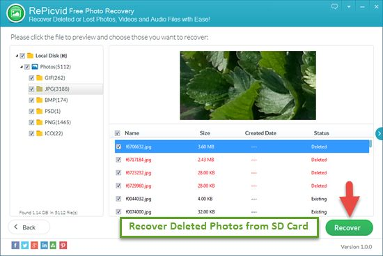 Recover Deleted Photos from SD Card for Free