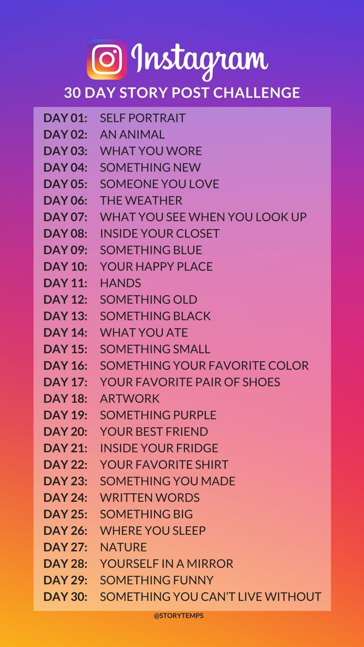 30 Day Instagram Story Post Challenge Ideas For Instagram Stories Instagram Story Questions Instagram Questions Instagram Challenge