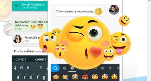 Kika Emoji Keyboard | Kika Tech   Use Swift Kika emoji keyboard for Android! Kika Keyboard brings a new collection of emoji, stickers, funny GIFs, stylish keyboard themes and free fonts.