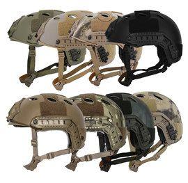 Lancer Tactical CA-725 PJ Type FAST Helmet w/Rails & Velcro