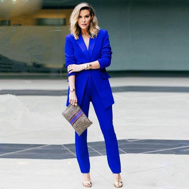 Royal Blue Pantsuit