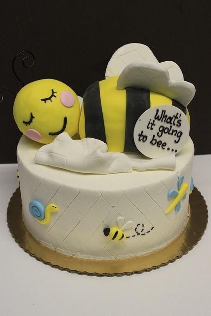 Sleepy Bee Baby Shower Cake