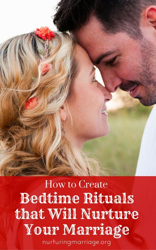 How to Create Bedtime Rituals that Will Nurture Your Marriage - Think back to when you were newlyweds - bedtime was exciting, looked forward to, and special. Fast forward ten, twenty, or forty years later, and you may have unintentionally slipped into some bedtime habits that aren't helping your marriage.