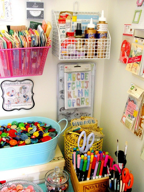 .Organized craft space...