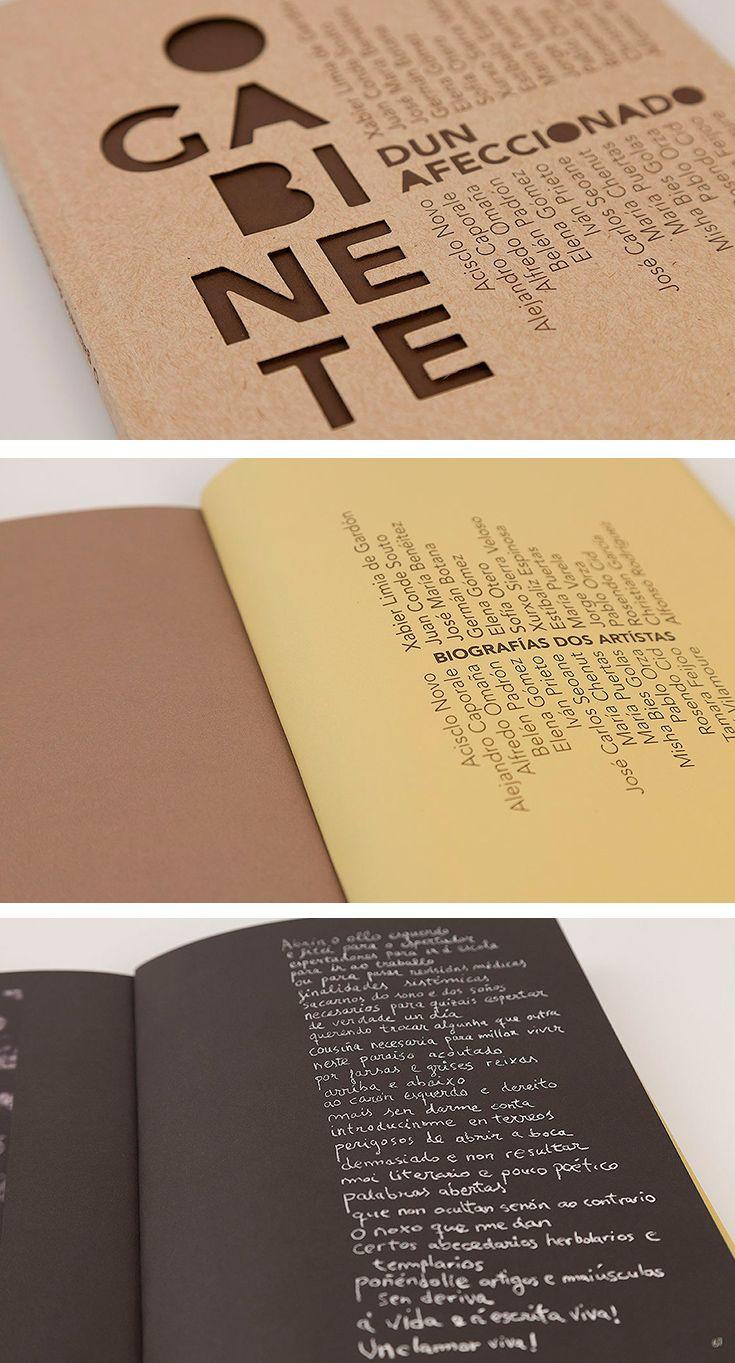 Libro para la exposición colectiva Gabinete dun Artísta del Museo Municipal Concello de Ourense.