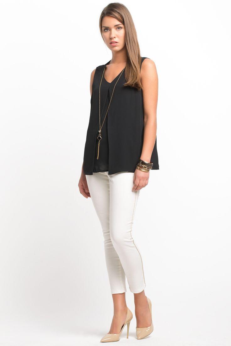 Kolye Detaylı Bluz - yazın bol bol cidede giyerimm (: