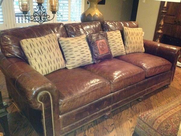 Hancock U0026 Moore Leather Sofa   $1500