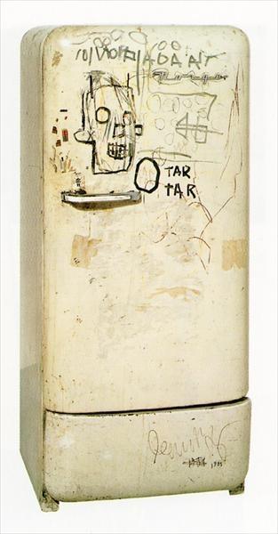 //'untitled (refrigerator)'jean-michel basquiat 1981
