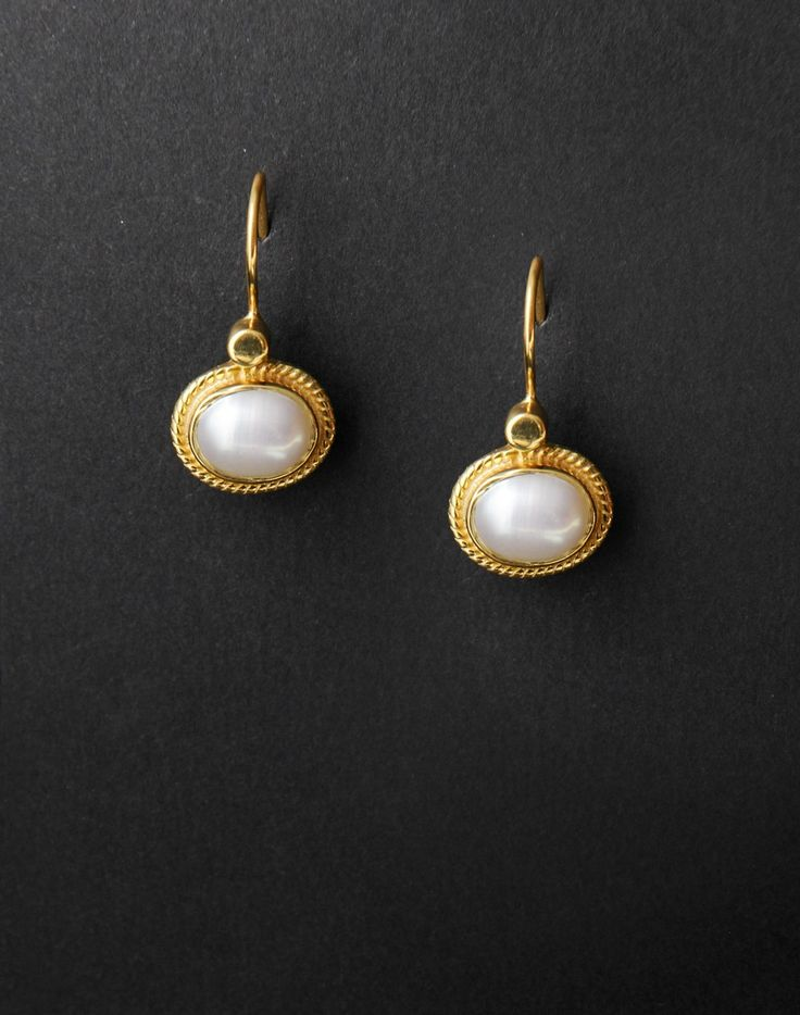 Silver Ananya ES 1026 Pearl Dangle Earrings