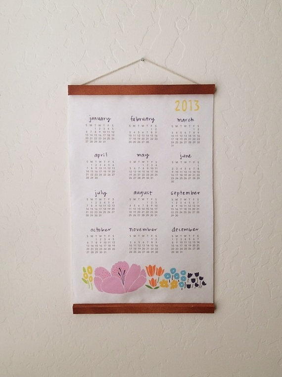 2013 Floral Calendar by lisaruppdesign on Etsy, $20.00