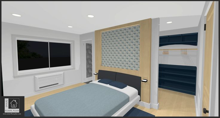 Bedroom Floor Plan at Kinsale Apartment. Ireland by https://www.smart-floorplan.com