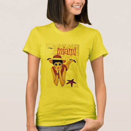 Travel Miami Florida Beach Vintage T-Shirt - tap, personalize, buy right now!