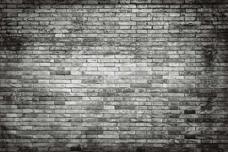 Tegelstenar svartvit tapet | Fototapet | Tegel | Svart | Vit