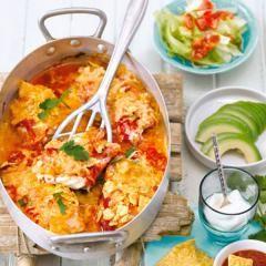 Fisch auf mexikanische Art mit Tortilla-Chips-Kruste