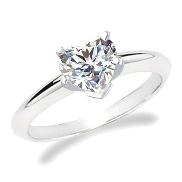 Heart shaped simple engagement ring I do