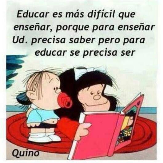 Y maestros deben ser los dos! (Y también los padres... Y todos en realidad)