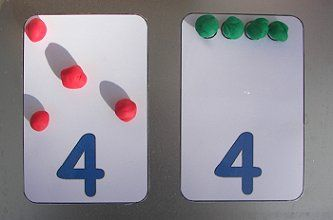 Playdough Numbers Mats