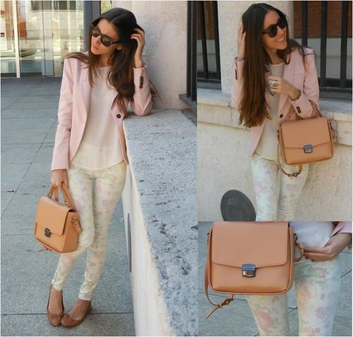 Subtle BeautyFashion Clothing Jewelry, Style Inspiration, Outfit Inspiration, Colors, Street Style, Subtle Beautiful, Bags, Beautiful Fashioninthestreet, Pink Blazers
