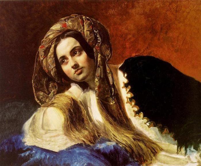 Турчанка. 1838 . Карл  Павлович  Брюллов  (1799—1852)