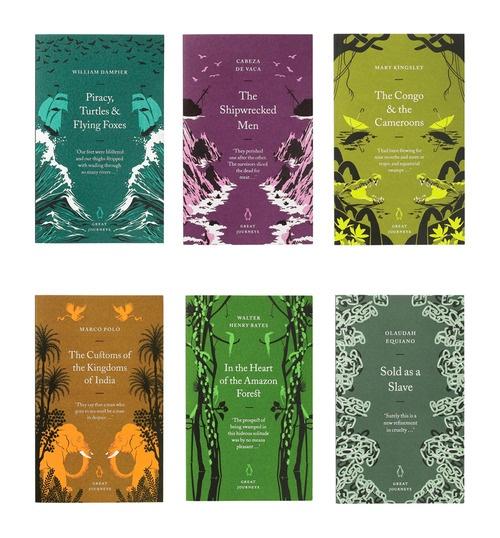 Great Journeys, cover design by David PearsonColours Inspiration, Cover Design, Journey Series, Boekomslag Inspiratie, Penguin Books, David Pearson, Covers Design, Book Covers, Penguins Book