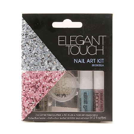 Elegant Touch Nail Art Kit 5ml 0067727 Be dazzling with this fun nail art kit. Let your imagination run wild and create some unique looks. Puff glitter or place studs all over your nails for a full on party look. For a more subtle look dec http://www.MightGet.com/may-2017-1/elegant-touch-nail-art-kit-5ml-0067727.asp