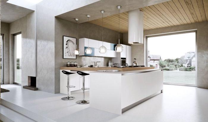 1001 Variantes De La Cuisine Avec Ilot Central Moderne Et