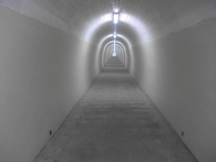 Inside the tunnel to the Durie Hill Elevator.