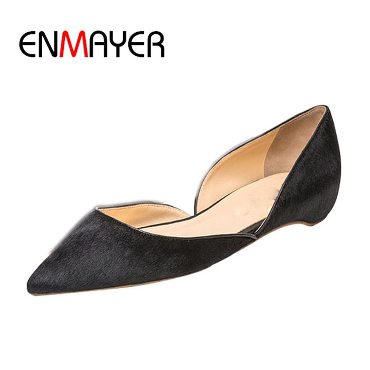 ==> [Free Shipping] Buy Best ENMAYER Leopard Shoes Woman Shallow Summer Flats Shoe Plus Size 35-46 Black Boat Shoes Designer Shoes Women Luxury 2017 Flat Online with LOWEST Price | 32810571438