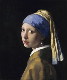 Johannes Vermeer-The Girl with a Pearl Earring - 1666- Baroque