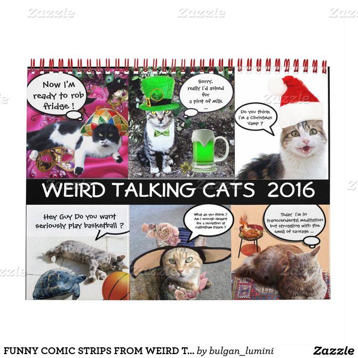 FUNNY COMIC STRIPS FROM WEIRD TALKING CATS 2016 CALENDAR