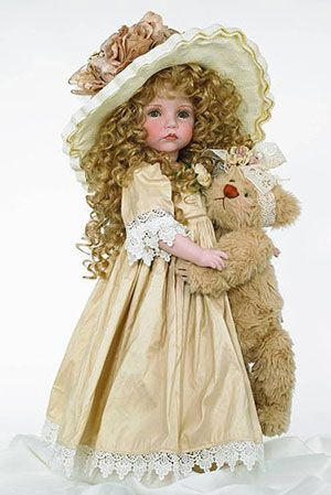 "Old-Time Friendship created by Linda Rick, The Doll Maker.  This Beautiful Collectible Porcelain Doll, is 24"" tall, and LE 150    $600.00 USD"