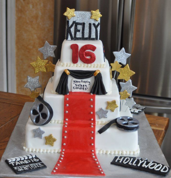 My Daughter S Hollywood Themed Sweet 16 Cake Cakes By