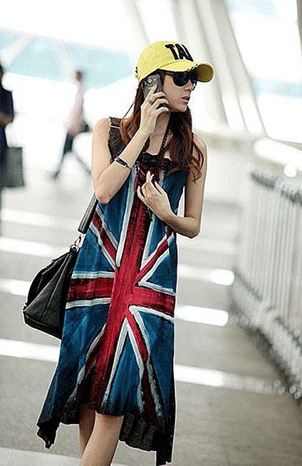 Оригинальное платье с американским флагом