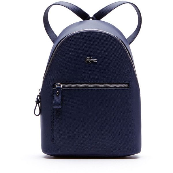 Lacoste Women's Daily Classic Coated Piqué Canvas Backpack ($168) ❤ liked on Polyvore featuring bags, backpacks, bags bags, leather goods, sport bag, sport backpack, canvas knapsack, lacoste bags and day pack backpack