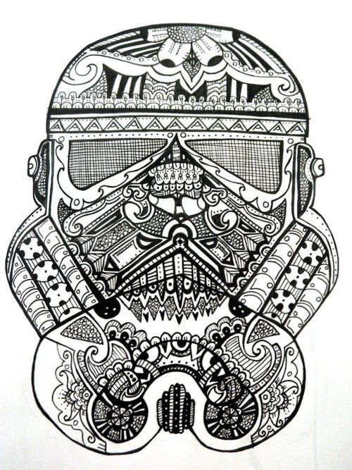 zen stormtrooper Star wars coloring book, Star wars