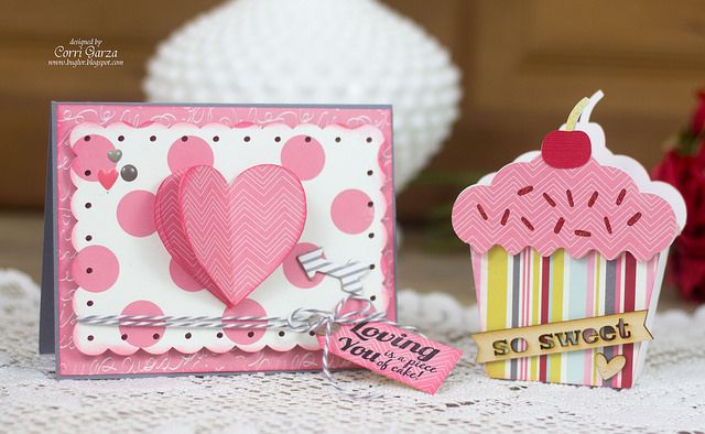 Bug Lover Cards: Lori Whitlock Creative Team - Valentine's Day Blog Hop | Corri Garza_cake2 by buglvr2010, via Flickr