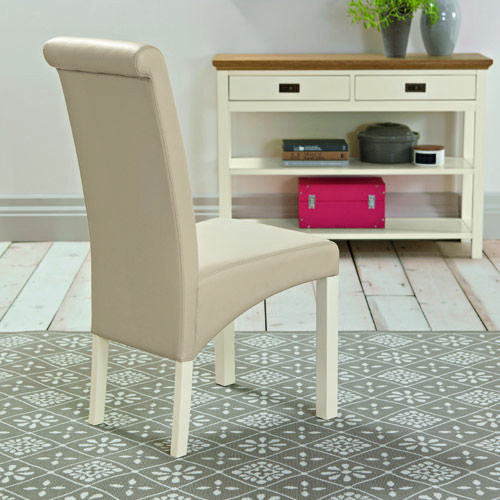 Rustic Two Tone PU Dining Chair - £69 | brandinteriors.co.uk