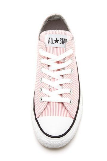 Striped Converse Shoes.