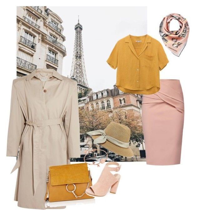 """Evening autumn walk in paris"" by devarahma on Polyvore featuring Balenciaga, WtR, Chloé, Kendall + Kylie, Longchamp and Eugenia Kim"