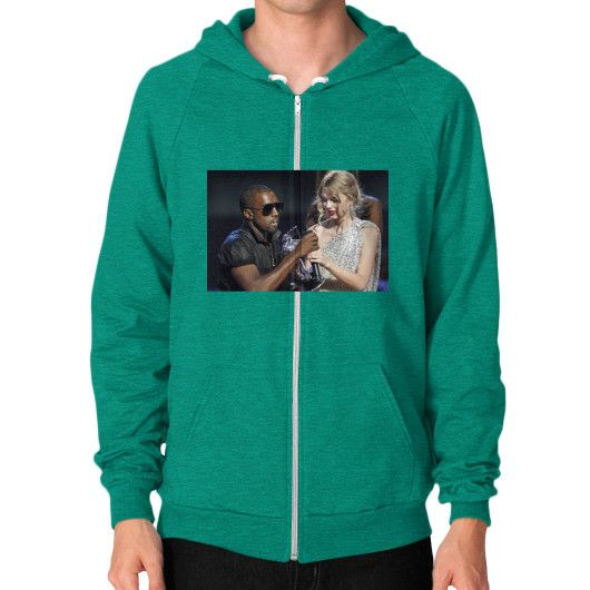 Kanye Taylor Zip Hoodie (on man) Shirt