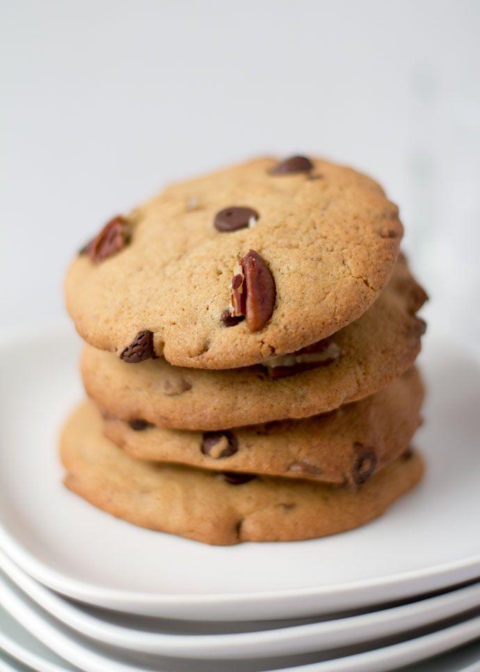 pecannoten chocolate chip cookies