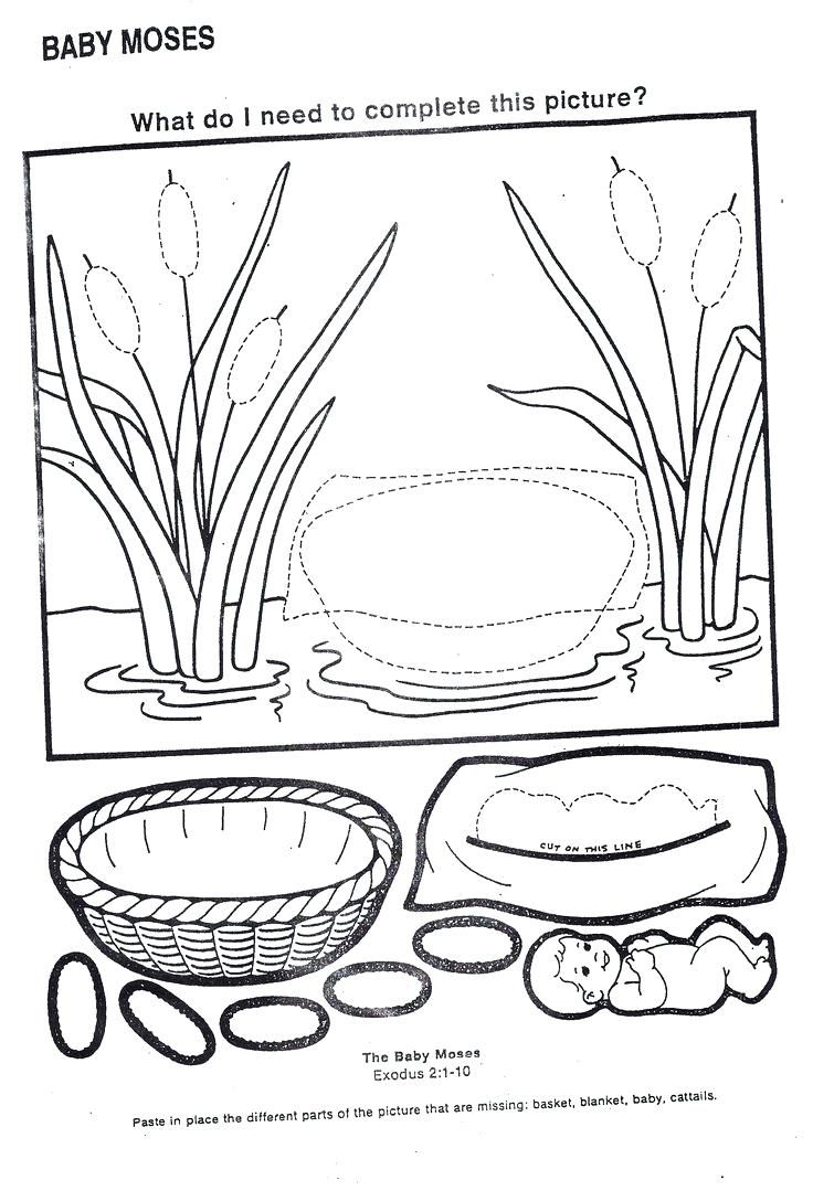 Printable Baby Moses Coloring Page Wonderful Ten With